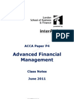50576969 ACCA P4 Class Notes June 2011 Version