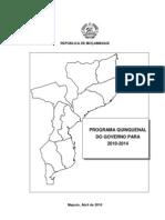 Plano Quinquenal Do Governo 2010-14