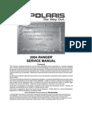 Polaris Technical Manual | Carburetor | Transmission (Mechanics)