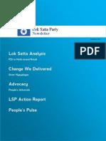 Lok Satta Party Newsletter, February 2012