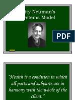 Betty Neuman's Systems Model