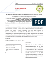 RP-HPLC Method Development and Validation for the Analysis of Clobazam in Pharmaceutical Dosage Forms