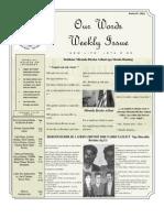 Newsletter Volume 3 Issue 44