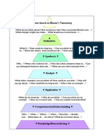 Bloom's Taxonomy Questions