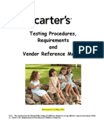 Carter's Testing Procedures, Requirements & Vendor Reference Manual May 2011