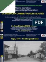 Intervention de Dr Yves Ekoué Amaïzo au Symposium organisé par CMDT (conseil mondial de la Diaspora togolaise) à Hamburg