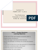 MKT 201 - Lec 5 Product Decisions