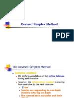 Revised Simplex