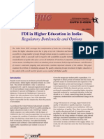 Briefing Paper-FDI in Higher Education in India