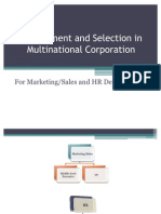 Recruitment and Selection in Multinational Corporation