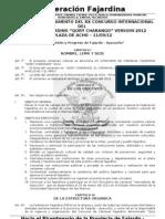Proyecto de Reglamento del XX Concurso Carnaval Fajardino Qory Charango 2012