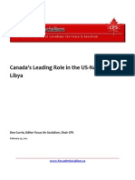 Canada's Leading Role in the US-NATO War on Libya