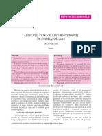 8. Aplicatii Clinice Ale Crioterapiei