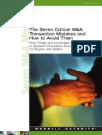 M&a 7 Critical Mistakes
