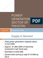 Power Generation Pakistan