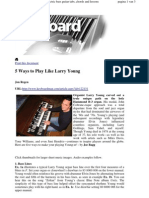 5 Ways to Play Like Larry Young