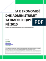 SITUATA E EKONOMISË DHE ADMINISTRIMIT TATIMOR SHQIPTAR_ALTax.al