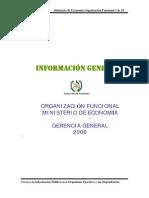 organización funcional del mineco - 2006