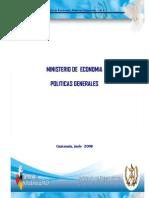politicas generales 2008 mineco
