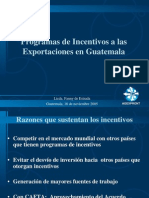 programas de incentivos a les exportaciones en guatemala