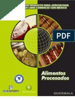 guia Mexico-Guatemala sector alimentos procesados