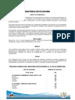 informe de rendicion de cuentas, octubre 2008 mineco