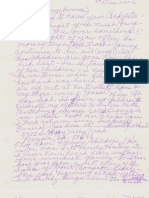 Alicia Gayle Leach-Howard Letter2 to Larry Leach About Family