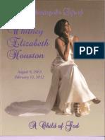 Whitney Houston Funeral Program 18 February 2012