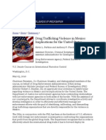 Drug Trafficking Violence in Mexico - Implications for the United States