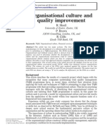 Organisational Culture and Quality Improvement