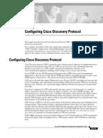 Configuring Cisco Discovery Protocol (CDP)