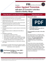 Potential Indicators of Terrorist Activities - Hobby Shops