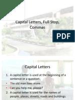 Capital Letters, Full Stop, Commas