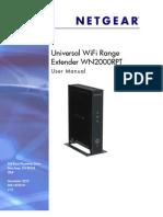 Netgear WN2000RPT Range Extender Manual