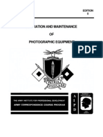 US Army Photography Course SS0522-0 - Operation and Maintenance of Photographic Equipment