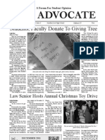 The Advocate - December 2011 - 20 Pages