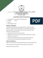 RPP Aspek Hukum Dalam Pembangunan
