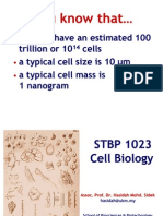 Cell Biology Lecture 1 & 2 Sem I 2011-2012 Introduction to Cell Biology, Cell as the Basic Unit of Life SPIN