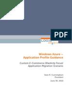 Azure and E-Commerce (Elasticity Focus) Application Migration Scenario