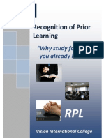 Recognition of Prior Learning Template)