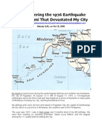 Remembering the 1976 (Mindanao) Earthquake  and Tsunami That Devastated My City