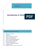 Chapter 1 - Introduction to Marketing