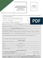 Form Inscription Registre