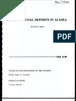 Selected Coal Deposits in Alaska