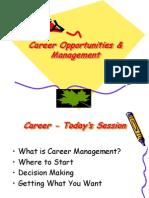 Career Opportunities & Management