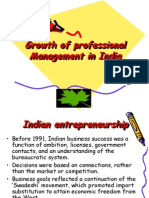 Growth of Professional Management in India