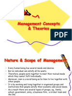 Management Concept & Theories