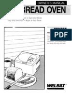Welbilt ABM300 - ABM350 Bread Maker Manual