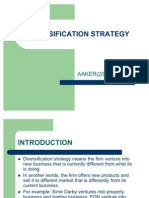 Mktg Analysis- Diversification Strategy