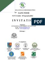 Invitation on XVI International Eco-Conference 2012